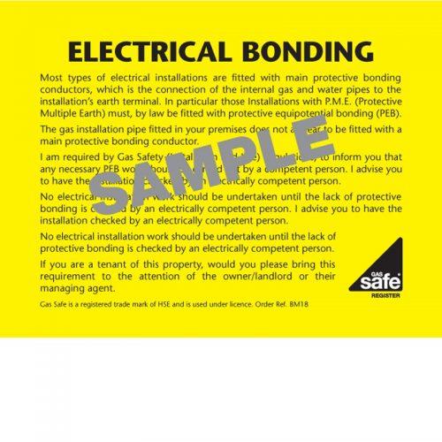 ELECTRICAL BONDING – BM18