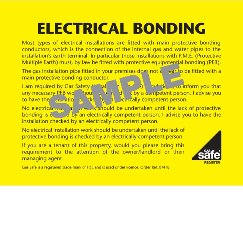 ELECTRICAL BONDING – BM18