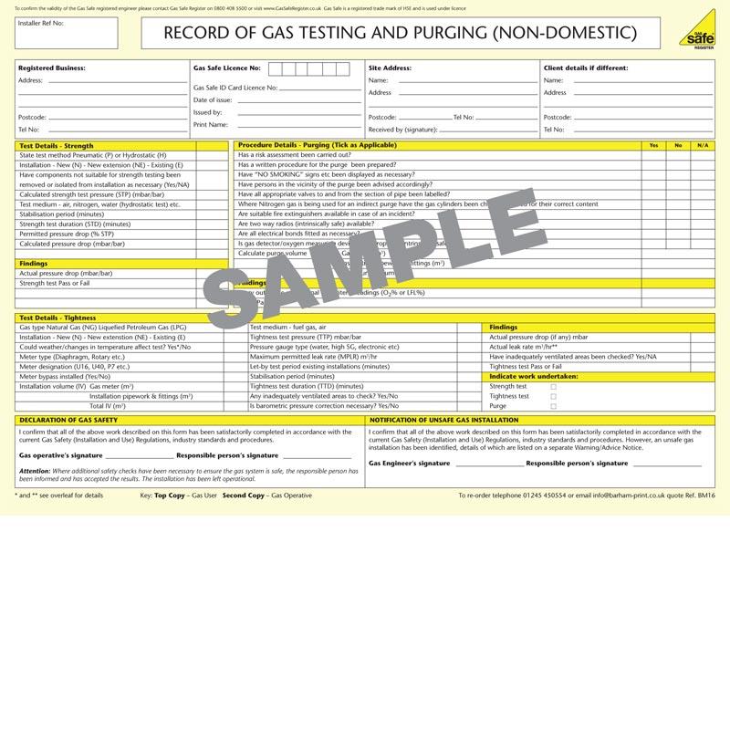 Gas Testing & Purging Pad – BM16