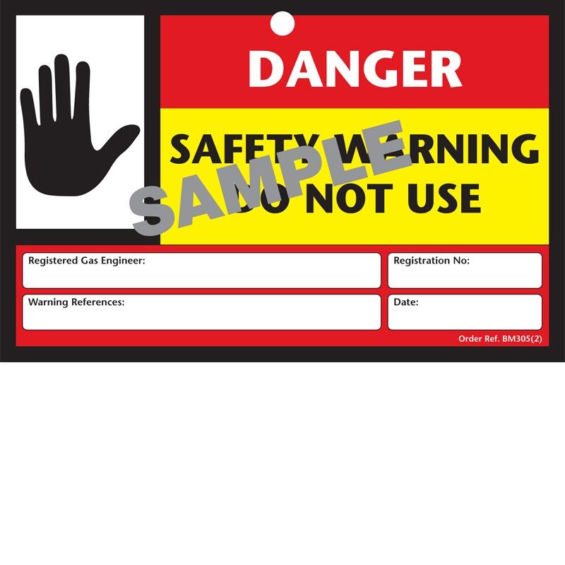 Safety Warning Label Rectangular - BM305