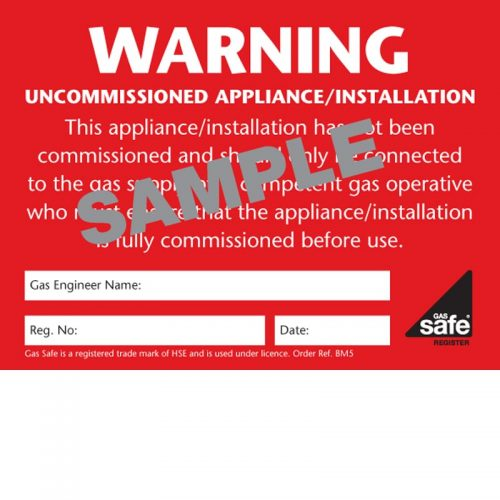 Warning Uncommissioned Appliance – BM5
